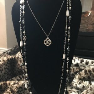 Black/White Layered Necklace